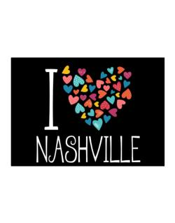 I love Nashville colorful hearts Sticker