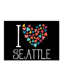 I love Seattle colorful hearts Sticker