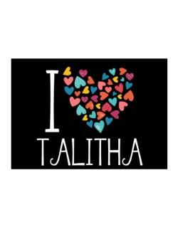 I love Talitha colorful hearts Sticker