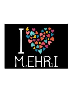 I love Mehri colorful hearts Sticker