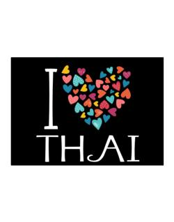 I love Thai colorful hearts Sticker