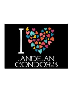 I love Andean Condors colorful hearts Sticker