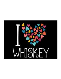 I love Whiskey colorful hearts Sticker