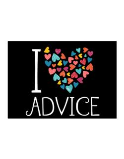 I love Advice colorful hearts Sticker
