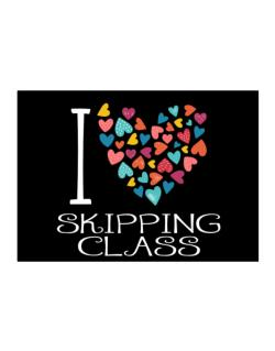 I love Skipping Class colorful hearts Sticker