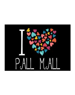 I love Pall Mall colorful hearts Sticker