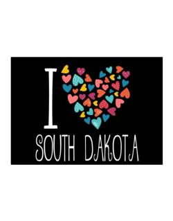 I love South Dakota colorful hearts Sticker