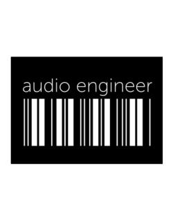 Audio Engineer barcode Sticker