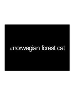 Hashtag Norwegian Forest Cat Sticker
