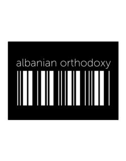Albanian Orthodoxy barcode Sticker