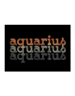 Aquarius repeat retro Sticker