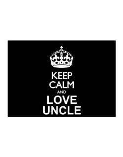 Keep calm and love Auncle Sticker