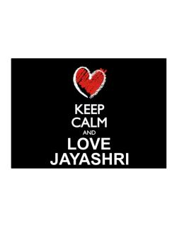 Keep calm and love Jayashri chalk style Sticker