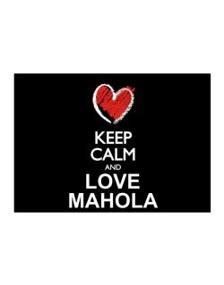 Keep calm and love Mahola chalk style Sticker