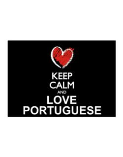 Keep calm and love Portuguese chalk style Sticker