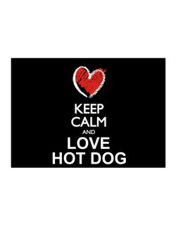 Keep calm and love Hot Dog chalk style Sticker