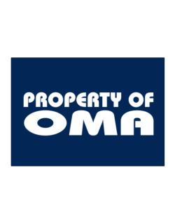 """ Property of Oma "" Sticker"