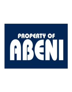 Property Of Abeni Sticker
