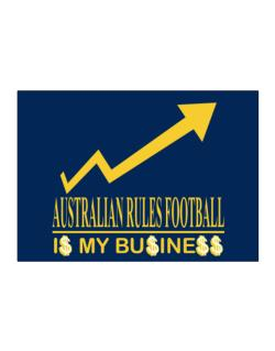 Australian Rules Football ... Is My Business Sticker