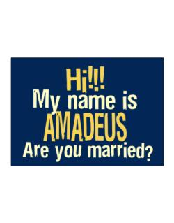 Hi My Name Is Amadeus Are You Married? Sticker