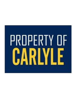 Property Of Carlyle Sticker