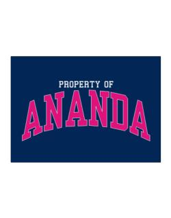 Property Of Ananda Sticker