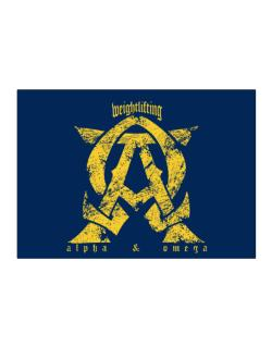 Weightlifting Alpha And Omega Sticker