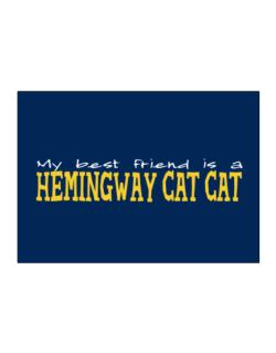 My Best Friend Is A Hemingway Cat Sticker