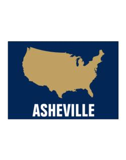 Asheville - Usa Map Sticker