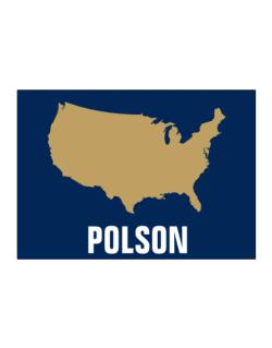 Polson - Usa Map Sticker