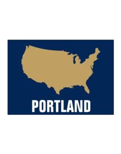 Portland - Usa Map Sticker