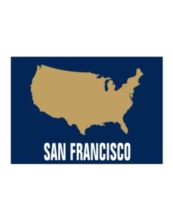 San Francisco - Usa Map Sticker