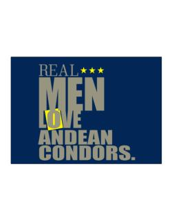 Real Men Love Andean Condors Sticker