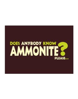 Does Anybody Know Ammonite? Please... Sticker