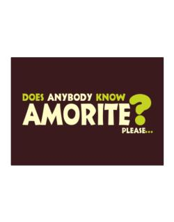 Does Anybody Know Amorite? Please... Sticker