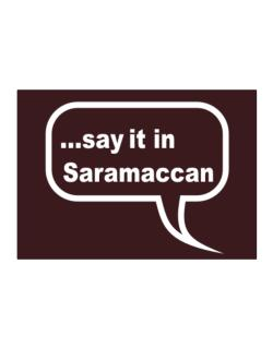 Say It In Saramaccan Sticker