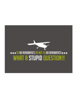 To do Aerobatics or not to do Aerobatics, what a stupid question!!  Sticker