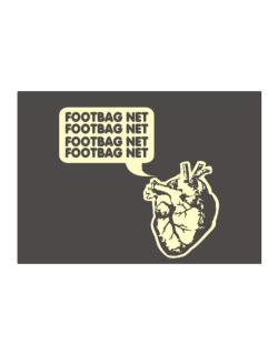 Footbag Net Heart Sticker