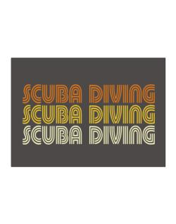 Scuba Diving Retro Color Sticker