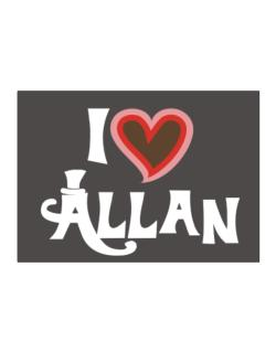 I Love Allan Sticker
