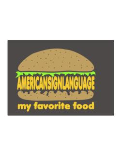 American Sign Language My Favorite Food Sticker