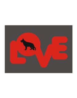 Love Silhouette German Shepherd Sticker
