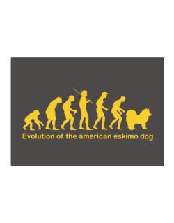 Evolution Of The American Eskimo Dog Sticker