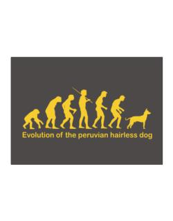 Evolution Of The Peruvian Hairless Dog Sticker