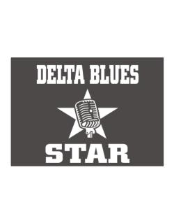 Delta Blues Star - Microphone Sticker