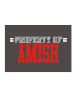 """ Property of Amish "" Sticker"