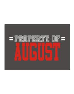 """ Property of August "" Sticker"