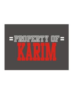 """ Property of Karim "" Sticker"