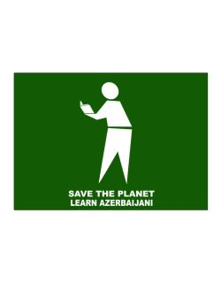 Save The Planet Learn Azerbaijani Sticker