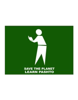 Save The Planet Learn Pashto Sticker